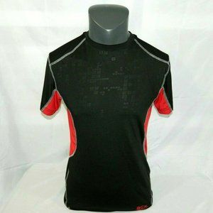 ACX Mens Small Black Red Workout Active Shirt